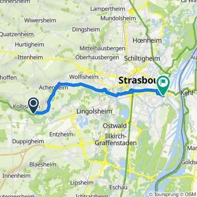 Route to 43 Avenue du Rhin, Strasbourg