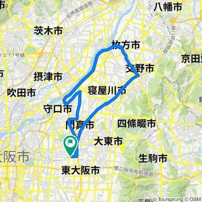 10-22, Inadauemachi 1-Chōme, Higashiosaka to 15-24, Inadauemachi 1-Chōme, Higashiosaka