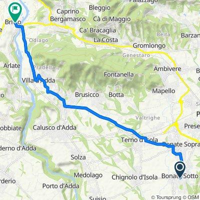 Da Via Vittorio Veneto 49, Bonate Sotto a Via Como 9, Brivio