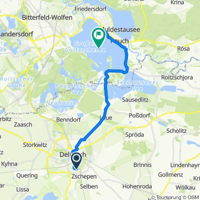 Route von Bahnweg 5–11A, Delitzsch