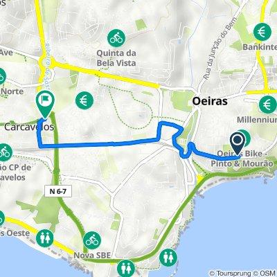 Praceta 7 Castelos 1, Oeiras to Rua Doutor José Joaquim de Almeida 407–413, Carcavelos