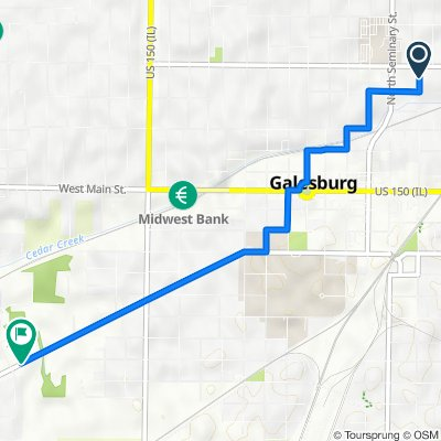 North Chambers Street 552, Galesburg to Monmouth Boulevard 1412, Galesburg