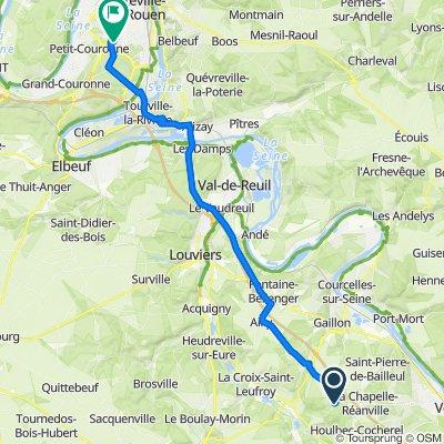 De 7 Rue de Chambray, Sainte-Colombe-près-Vernon à 2 Rue Joseph Fourier, Saint-Étienne-du-Rouvray