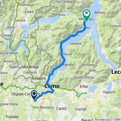 Percorso da Via Giacomo Leopardi 10, Lurate Caccivio
