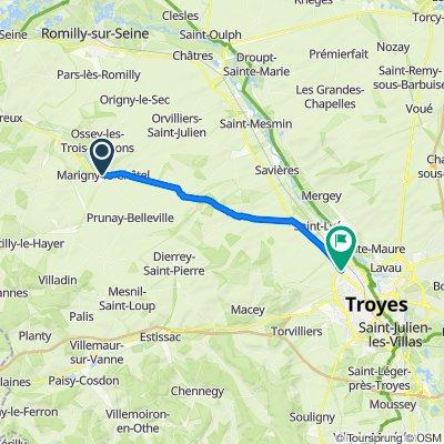Ruta desde 4–4A Rue Picard Vallot, Marigny-le-Châtel