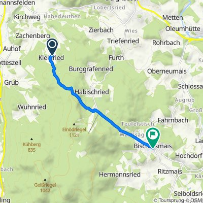 Kleinried 5, Zachenberg nach Kirchplatz 12, Bischofsmais