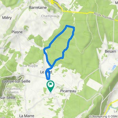 De 1 Route de Le Fied, Fay-en-Montagne à 4 Rue des Fayards, Fay-en-Montagne