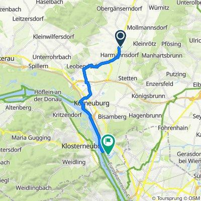 Mühlgasse 34, Harmannsdorf nach Siegfried Charoux Straße 18, Langenzersdorf