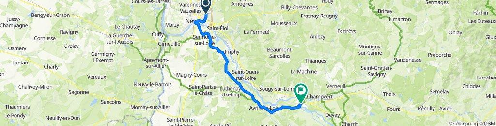 De 26 Rue Georges Dufaud, Nevers à Pont du 152ème Régiment d'Infanterie, Decize
