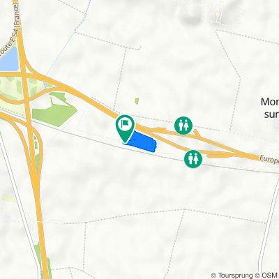 De Chemin Rural de Pouilly-le-Fort au Petit Jard, Montereau-sur-le-Jard à Chemin Rural de Pouilly-le-Fort au Petit Jard, Montereau-sur-le-Jard
