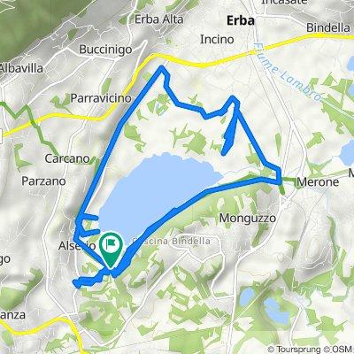 Da Via Don Luigi Guanella 26, Alserio a Via Don Luigi Guanella 26, Alserio
