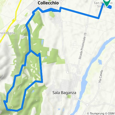 Da Via Guido Rossa 3F, San Martino Sinzano a Via Guido Rossa 3F, San Martino Sinzano