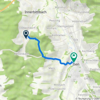 Route nach Am Gries 3, Isen