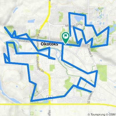 Okotoks Bike Path Ride
