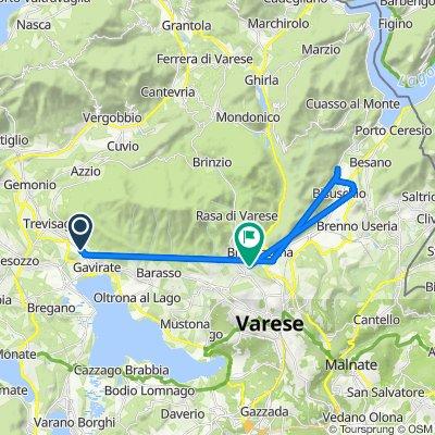 Da Viale Verbano 50, Gavirate a Via dei Mulini Grassi 30, Varese