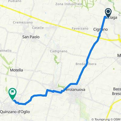 Via Fè d'Ostiani 25–37, Offlaga to Via Chiavicone 1–2, Quinzano D'oglio
