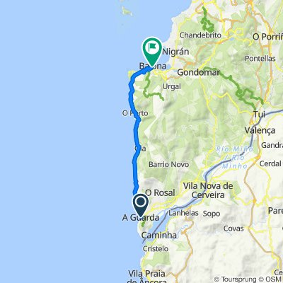5. Etappe A Guarda - Baiona