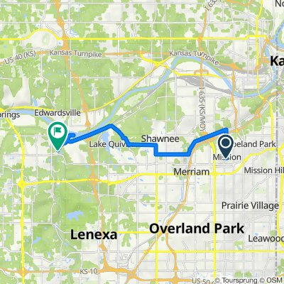 Route from 5631 Beverly Ln, Mission