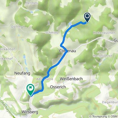 Route nach Kosertal 23, Wirsberg