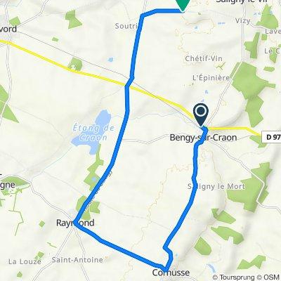 De 5 Rue du Chapelet, Bengy-sur-Craon à Vizy, Saligny-le-Vif