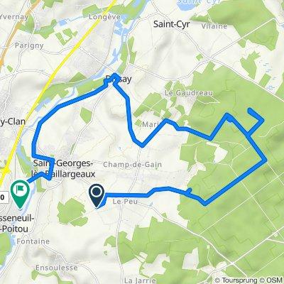 Itinéraire vers 6 Allée des Fauvettes, Chasseneuil-du-Poitou