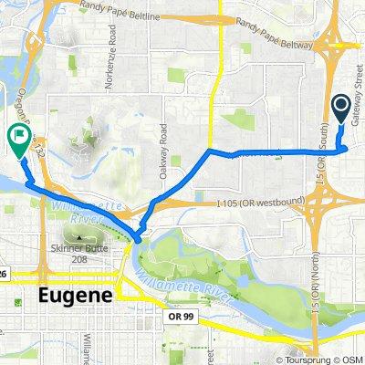 2900 Gateway St, Springfield to 250 Valley River Center, Eugene