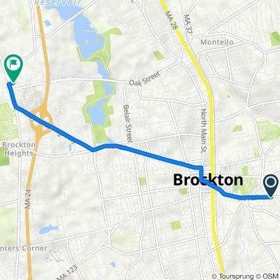 431 Crescent St, Brockton to 349 N Pearl St, Brockton