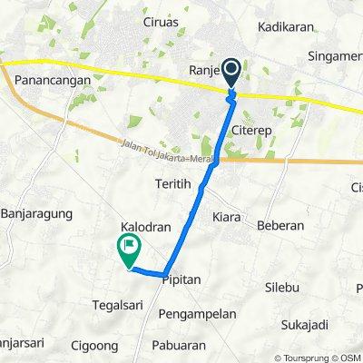 Route to Jalan Akses Polda, Kecamatan Walantaka