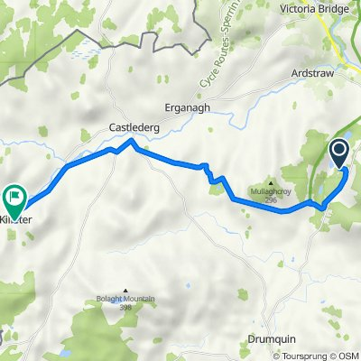 63D Baronscourt Road, Omagh to 1 Crilly's Hill Road, Killeter, Castlederg