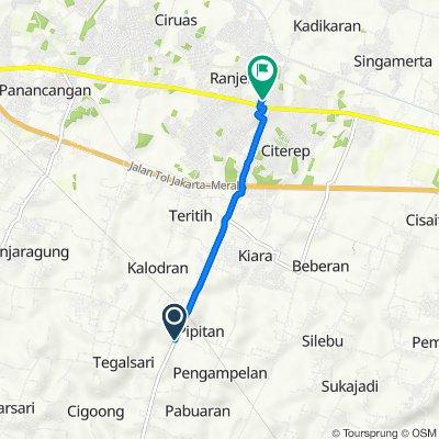 Jalan Ciruas - Petir, Kecamatan Walantaka to Unnamed Road, Kecamatan Ciruas