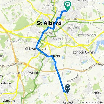 28 The Avenue, Radlett to Sandpit Lane, St Albans
