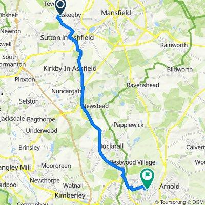 Mansfield Road 38 to Beckhampton Road 334
