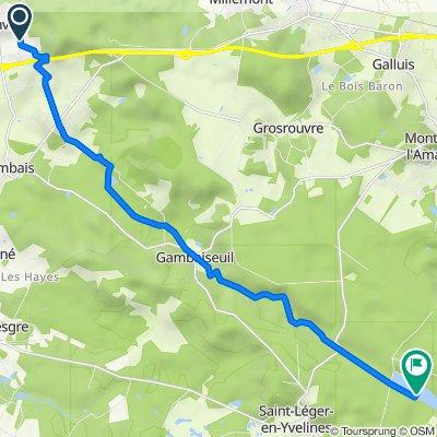 Itinéraire à partir de 9 Chemin de l'Aunay, Bazainville