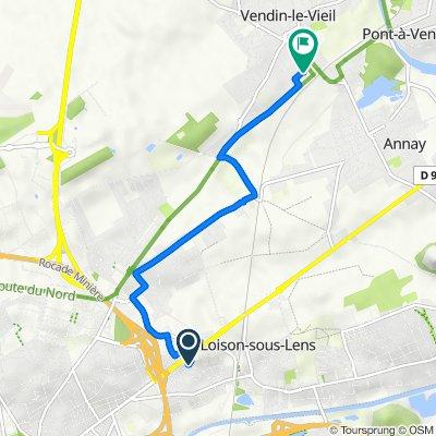De 5 Rue Rembrandt, Loison-sous-Lens à 7 Rue du Maréchal Foch, Vendin-le-Vieil