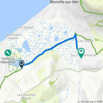 De Chemin des Rangs, Villers-sur-Mer à 2 Rue Jean de la Varende, Blonville-sur-Mer