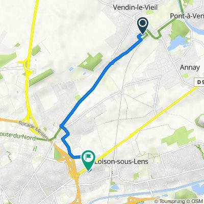 De 5 Rue du Maréchal Foch, Vendin-le-Vieil à 5 Rue Rembrandt, Loison-sous-Lens