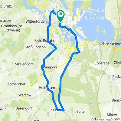 Schwerin-Rundtour: Sülstorf - Alter Dömitzer Postweg 🚴🏼