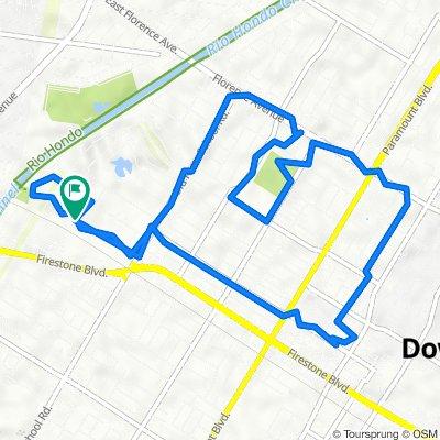 Dinwiddie Street 7154, Downey to Dinwiddie Street 7154, Downey