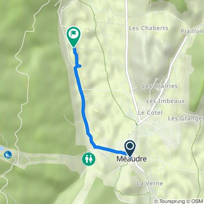 Itinéraire à partir de Avenue du Meaudret, Méaudre