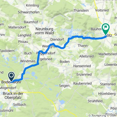 Ludwigsheide 2, Bodenwöhr nach Hussenstraße 5–13, Rötz