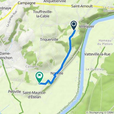 Itinéraire à partir de La Grenouille, Villequier