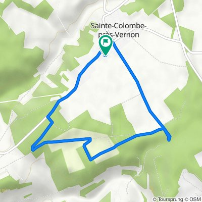 De 9 Rue de Chambray, Sainte-Colombe-près-Vernon à 9 Rue de Chambray, Sainte-Colombe-près-Vernon