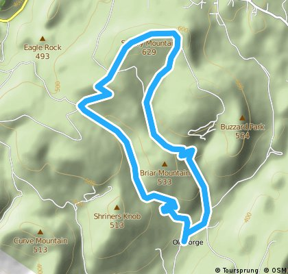 Staley Hill Training Loop - 1 lap