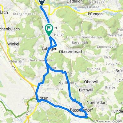 Hardstrasse 38, Embrach to Bacheggweg, Embrach
