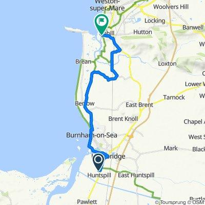 55 Church Road, Highbridge to 107 Uphill Way, Weston-Super-Mare