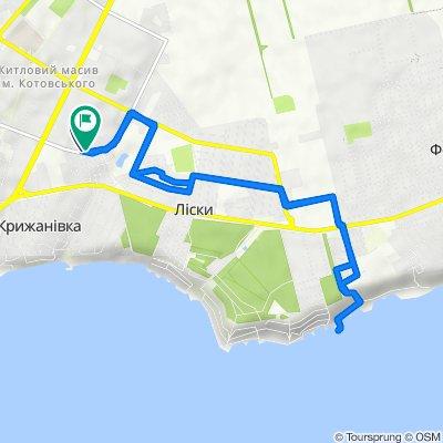 От Марсельская улица, Одесса до Марсельская улица, 56, Одесса