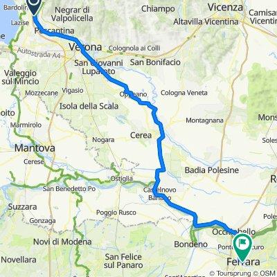 Località Cordevigo 1, Cavaion Veronese nach Piazza della Cattedrale 11, Ferrara