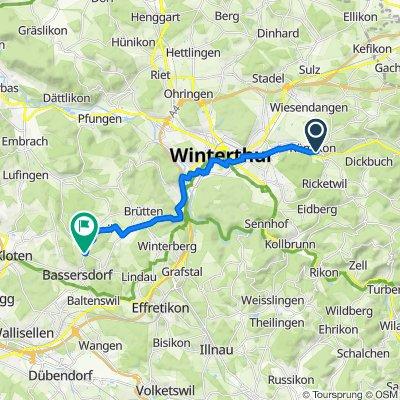 Auwiesenstrasse 13, Elsau nach Eigentalstrasse 53, Nürensdorf