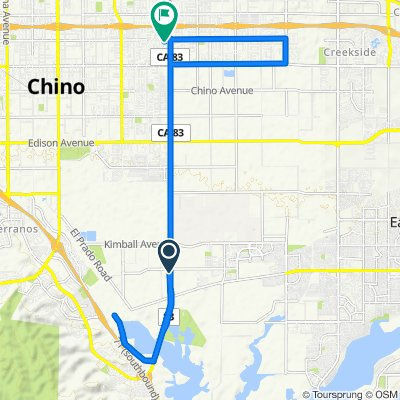 16181–16185 S Euclid Ave, Chino to 2614 S Laurel Ave, Ontario