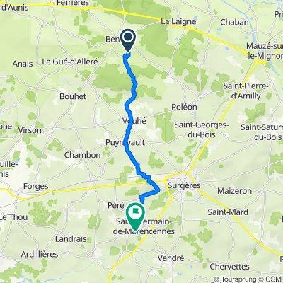 De Le Peu, Benon à Rue des Trois Ponts, Saint-Germain-de-Marencennes